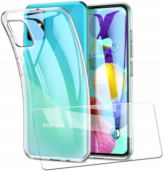 COVER CUSTODIA + PELLICOLA IN VETRO TEMPERATO PER SAMSUNG GALAXY A51 A 51