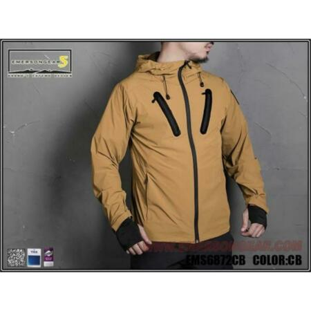 img-Jacket Hattori Skin Windbreaker Coyote Brown Size (M) Emersongear