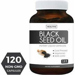 Kyпить Black Seed Oil - 120 Softgel Capsules Non-GMO & Vegetarian Premium Cold-Pressed на еВаy.соm
