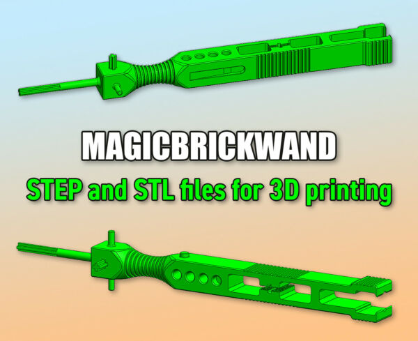 MagicBrickWand ● 3D STL+STEP file ● Easy dismantling tool for LEGO® Technic sets