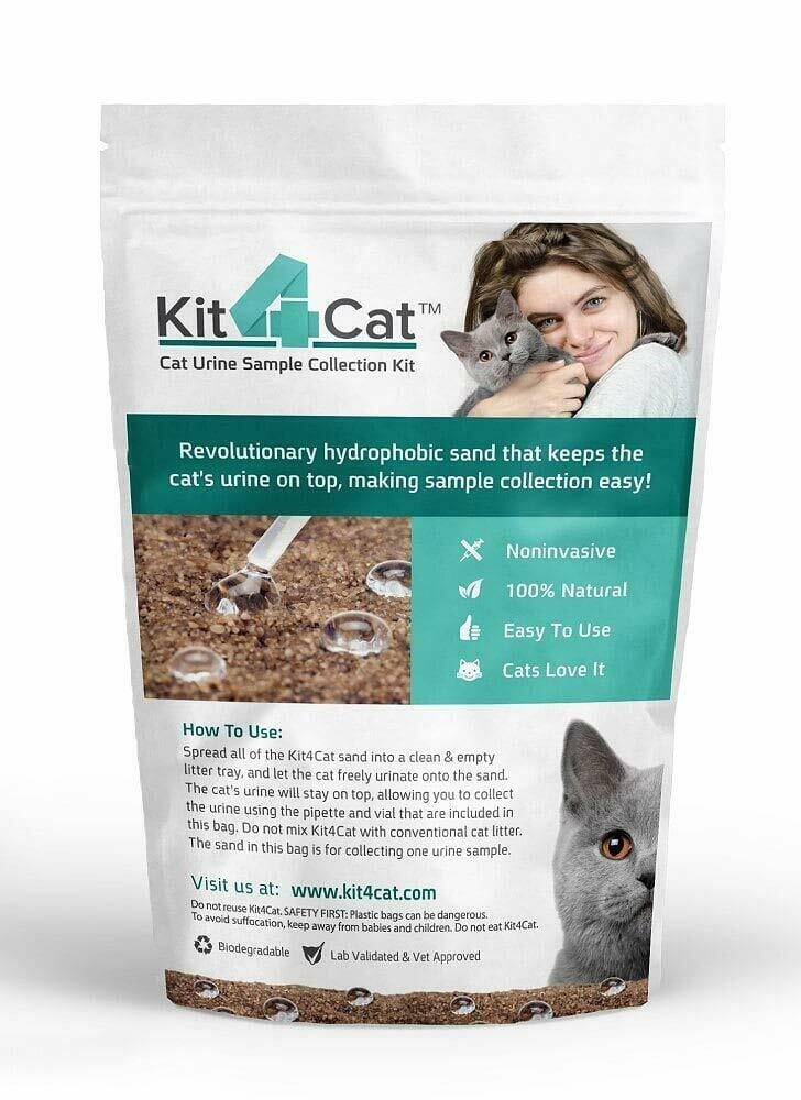 Kit4cat 2lb Hydrophobic Litter Sand Cat Urine Sample Collection Kit 1 Bag