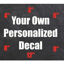 Custom Personalized Stickers Vinyl Decals Car Window Lettering Business Cup Name