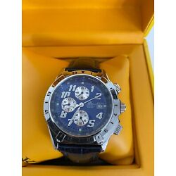 Adee Kaye Beverly Hills Watch Leather Band In Yellow Case Chronograph 30 Meters