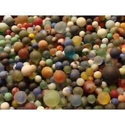 Kyпить   100 Vintage Glass Beach Sea Frosted Marbles Old Toys Gift Collector Sandstorm  на еВаy.соm