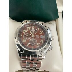 Adee Kaye Beverly Hills Watch Stainless Steele Band 30 Meter In Green Case