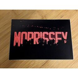 Morrissey on stage silhouette lights sticker decal live concert bumper window