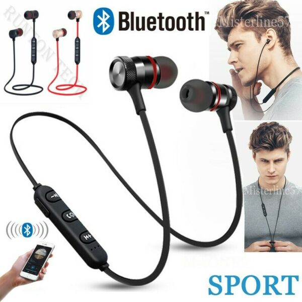 AURICOLARI BLUETOOTH CUFFIE 4.1+EDR WIRELESS UNIVERSALE MICROFONO BASS