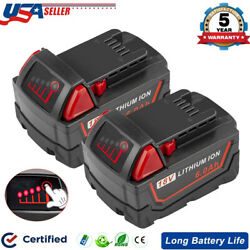 Kyпить (Qty 2) For Milwaukee M18 Lithium XC 6.0 AH Extended Capacity Battery 48-11-1860 на еВаy.соm