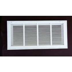 Proselect PSFGW2410 Return Filter Grille 24'' x 10'' Finish White 1/2'' Spaced Fins