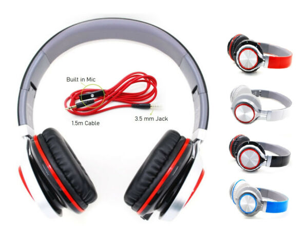 STEREO HEADPHONES DJ STYLE FOLDABLE HEADSET EARPHONE Super Bass High Definition