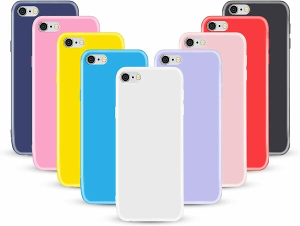 COVER CUSTODIA PER APPLE IPHONE SE 2020 8 7  + PELLICOLA VETRO TEMPERATO TPU