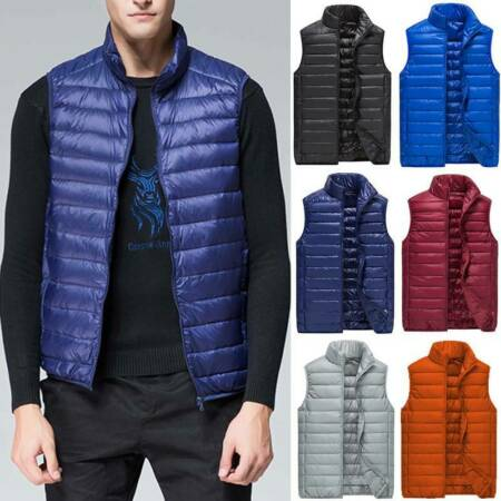 img-Mens Duck Down Lightweight Quilted Gilet Vest Packable Sleeveless Jacket Top P67