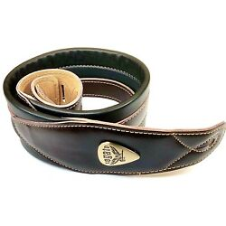 Kyпить Legato Guitar Strap 3 Inches Wide Double Padded Soft Leather NEW w/ 3 Free Picks на еВаy.соm