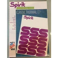 25 Sheets Spirit Transfer Paper Tattoo Stencil THERMAL AUTHENTIC Made In USA