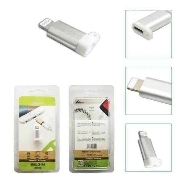 Adattatore Adapter da MICRO USB Femmina a Maschio 8 Pin Lightning Dati iPhone