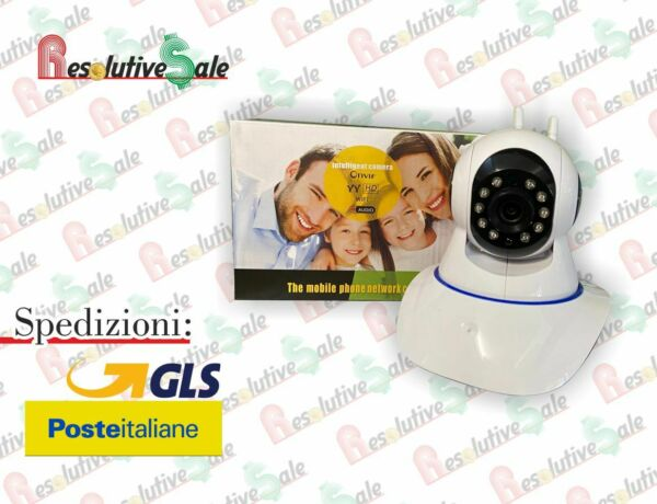 TELECAMERA 1080P HD WIRELESS INTERNA IP CAMERA MOTORIZZATA IR INFRAROSSI WIFI TC