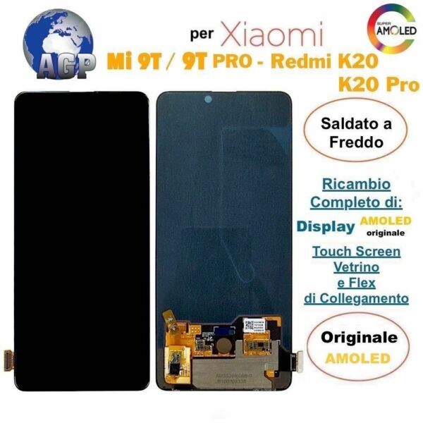 Display OLED Touch Screen per Xiaomi Mi 9T/PRO Redmi K20/PRO M1903F10G ORIGINALE