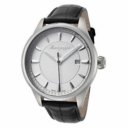 Kyпить Montegrappa Men's IDFOWALJ Fortuna Silver Dial Leather 42mm Watch на еВаy.соm