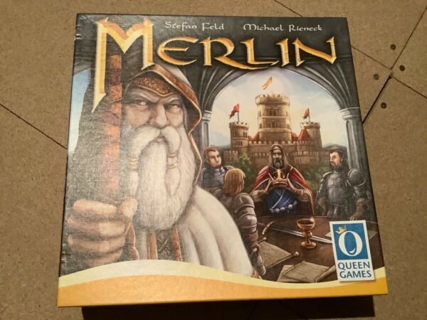Merlin Board Game & Arthur Expansion MINT Condition
