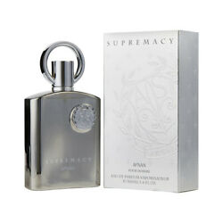 Supremacy Silver Pour Homme by AFNAN 3.4 oz/ 100 ml EDP Spray for Men