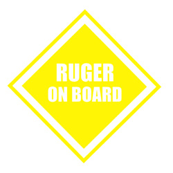 RUGER ON BOARD decal for car, truck