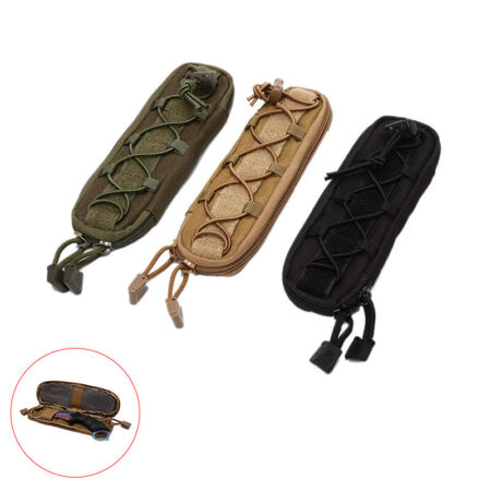 img-Military Tactical Knife Pouches Waist Bag Hunting Bags Flashlight Holder Case BJ