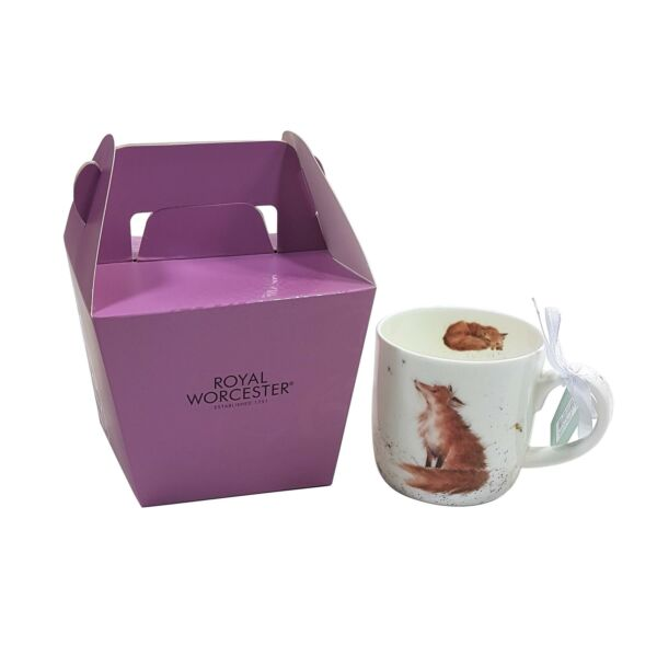 Royaume-Uni2 X Emballé Wrendale Licence Official Artful Fox  Fine Chine Tasse