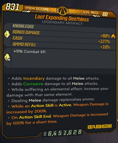 ItaliePS4/XBOX/PC - Loot Expanding Deathless Modded Artifact -  3