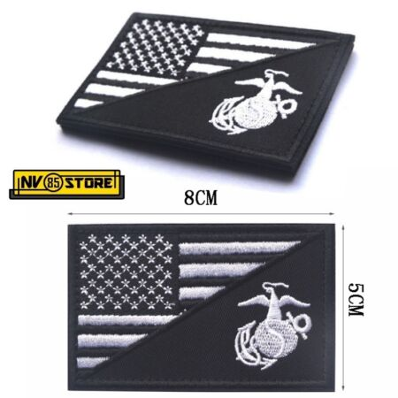 img-Patch Low Vis USA Usmc US Marines Corps 8 X 5 CM Military Velcrogrip BK