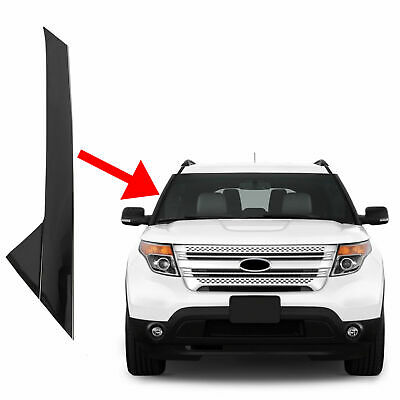 For 11-19 Ford Explorer Windshield Outer SHINY Trim Molding Passenger Right Side