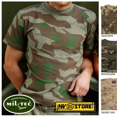 img-Jersey Mil-Tec 100% Cotton T-Shirt Camouflage Softair Camouflage