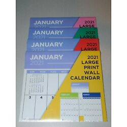 Kyпить 2021 Large Print Wall Calendar - NEW Sealed - Easy to See and Write On на еВаy.соm