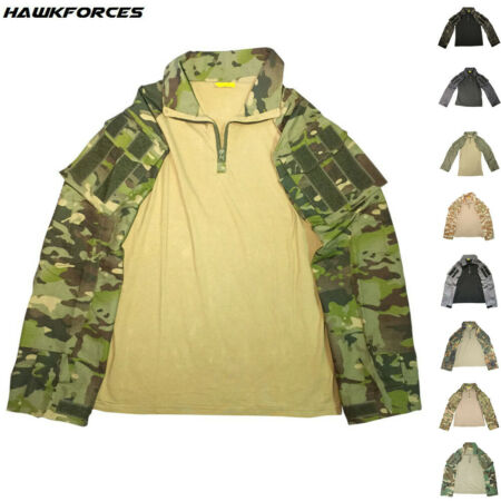 img-Airsoft Mens Combat Shirt Tactical Military G3 Camo Army Pullover Casual T-Shirt