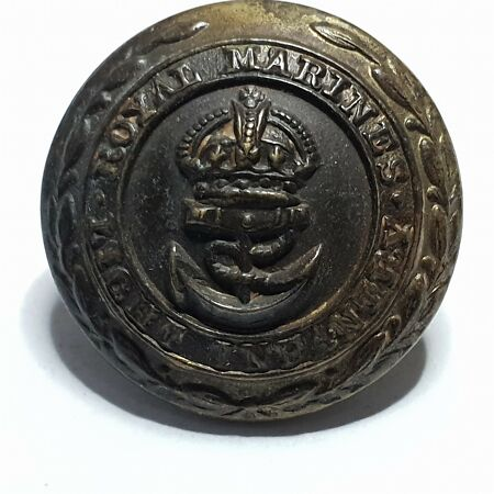 img-WW1 Royal Marines light infantry Brass button 23mm Various makers kings crown