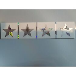 Kids holographic vinyl decals star shaped (9) 1'' high