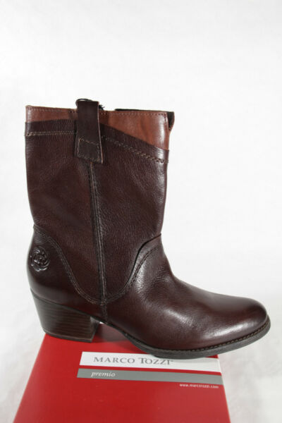 AllemagneMarco Tozzi Femmes Bottes  Braun Cuir Neuf