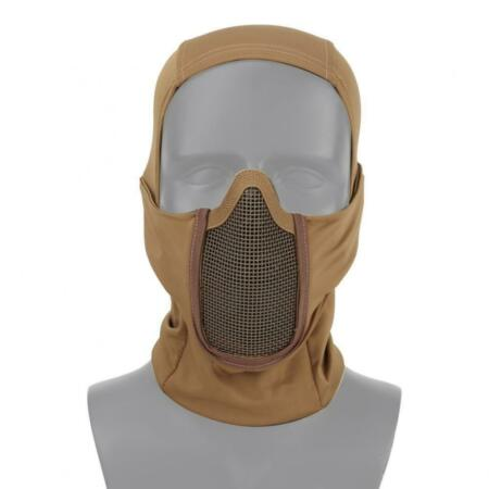 img-Balaclava Tan IN Polyester With Net Metallic Shadow Fighter WOSPORT