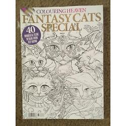 No Label FANTASY CATS Special COLOURING HEAVEN BOOK 40 Designs From JEFF HAYNIE