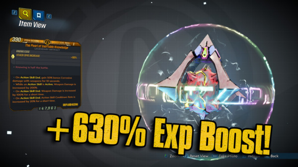 Italie  3 +630% Exp Boost Artifact with 15 Best Anointments PS4/XBOX/PC