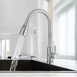Kyпить Commercial Pull Down Kitchen Sink Faucet with Sprayer Brushed Nickel Single Hole на еВаy.соm