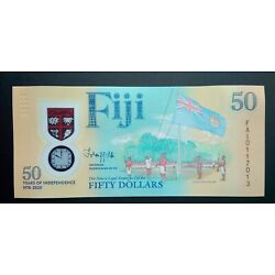 Kyпить Fiji, 50 dollars polymer, 2020, commemorative note, 50 years of Independence на еВаy.соm