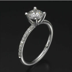 Kyпить 1.90 CT Real Round Cut Diamond Engagement Ring 18K Yellow Gold G/SI2-I1 на еВаy.соm