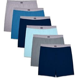 Kyпить Fruit Of The Loom Mens 6 Pack Assorted Knit Boxers на еВаy.соm