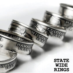 Kyпить US State Quarter Coin Ring ANY STATE! Sizes 8-12 на еВаy.соm