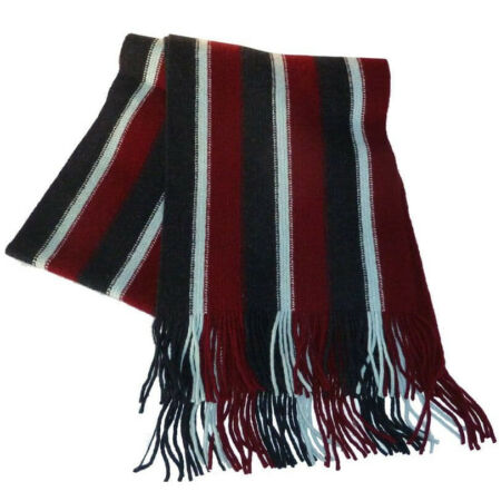img-The Royal Air Force lambswool knitted scarf in the colours. RAF UK made.
