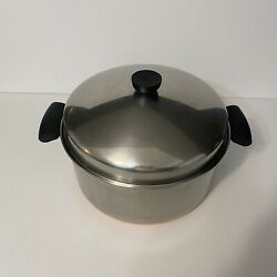Kyпить Vtg. Revere Ware Stainless Steel Copper Bottom 6Qt. Stock Pot With Domed Lid на еВаy.соm
