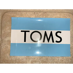 TOMS sticker/decal new mens shoes women shoes Authentic 4.5 x 3 inches