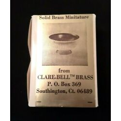 CLARE-BELL BRASS Dollhouse Miniature Revere Bowl #1765