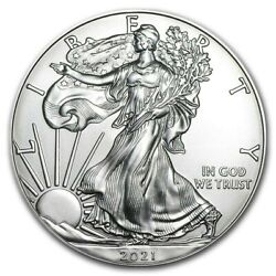 Kyпить 2021 American 1 oz Silver Eagle Coin 999 Fine Silver BU - IN STOCK на еВаy.соm