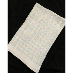 Kyпить Vintage Beacon Cotton Baby Blanket Pastel Woven Knit Waffle Weave WPL 1675 USA на еВаy.соm